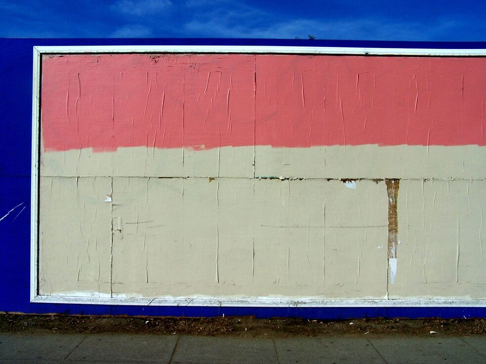 The Subconscious Art Of Graffiti Removal: A conservative buff with mismatched paint unintentionally creates a new minimalist painting.