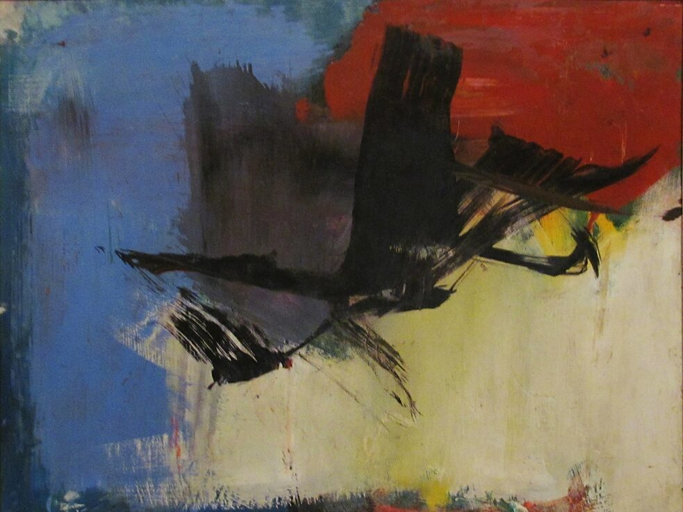 "The subconscious art of graffiti removal: ""Lyre Bird"", an abstract Painting by Franz Kline from 1957, shows similarities to a buff that could be found in the streets."