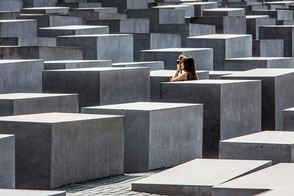 Racism – The monument to the murdered Jews of Europe by the architect Peter Eisenmann in Berlin.