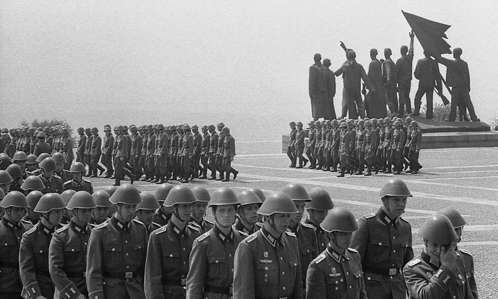 Racism – The swearing in of conscripts from the National People's Army of the GDR in the former fascist concentration camp of Buchenwald in 1978.