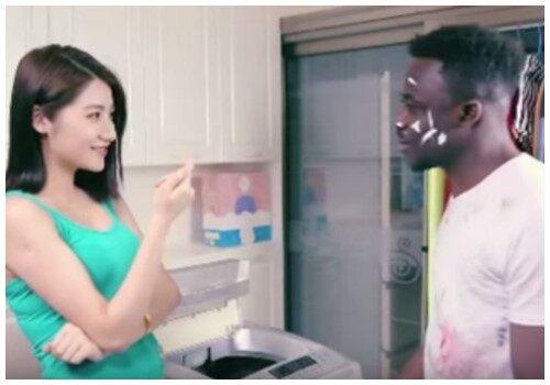 Szene aus dem umstrittenen Qiaobi-Werbespot