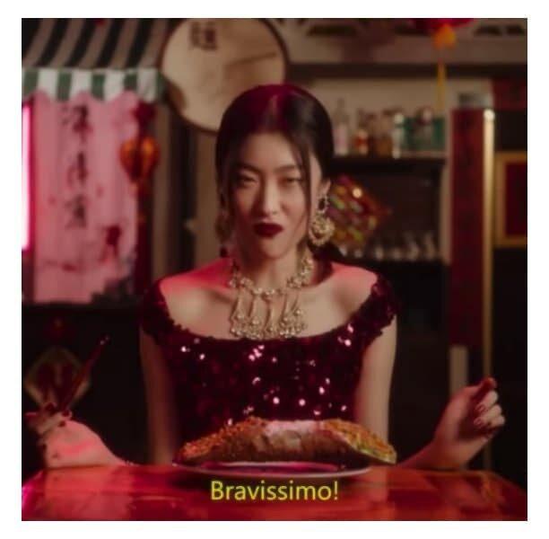 Standbild aus dem D&G-Werbevideo, das in China als rassistisch befunden wurde und 2018 für große Kontroversen sorgte