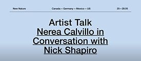 Nerea Calvillo in Conversation with Nick Shapiro