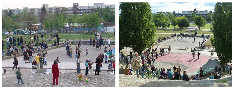 Berlin's Mauerpark basketball court