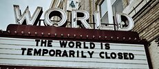 """The world is temporarily closed"": Die Corona-Pandemie hat zeitweise große Teile des gesellschaftlichen und wirtschaftlichen Lebens angehalten."