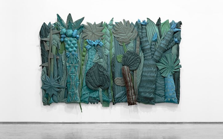 Hoda Tawakol, Jungle #1, 2018, fabric, wadding, thread, 220 x 350 x 25 cm