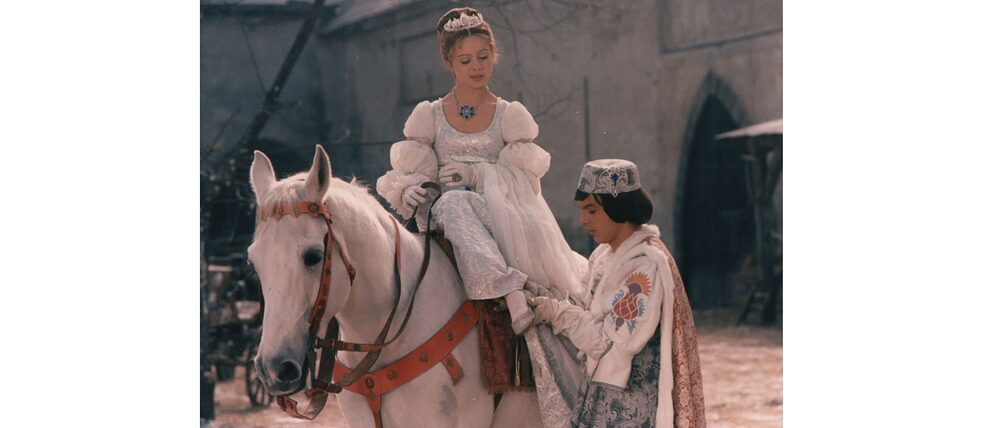 "This fairy tale film from DEFA's inventory – a co-production with the Barrandov film studios – is still known today by every TV viewer in Germany: ""Drei Haselnüsse für Aschenbrödel"" (Three Wishes for Cinderella)."