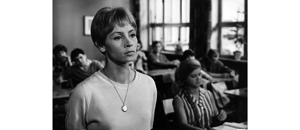 "Other productions did not make it onto the cinema screens, because of their political or ideological orientation. The film ""Karla"" produced in 1965, for example, with Jutta Hoffmann in the role of a teacher who wants to educate her students to think critically, was banned by the Central Committee of the SED. The production was first broadcast publicly in 1990."