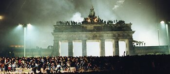 Silvesterfeier '89 am Brandenburger Tor