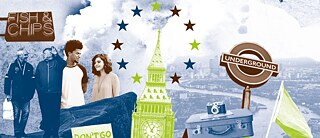 Tell Me About Europe London Postcard
