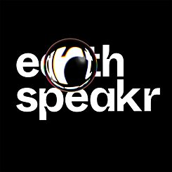 Logo Earth Speakr de color blanco
