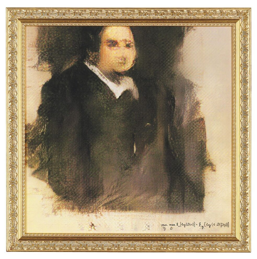"AI-produced painting ""Edmond de Belamy"" sold for top dollar in 2018"