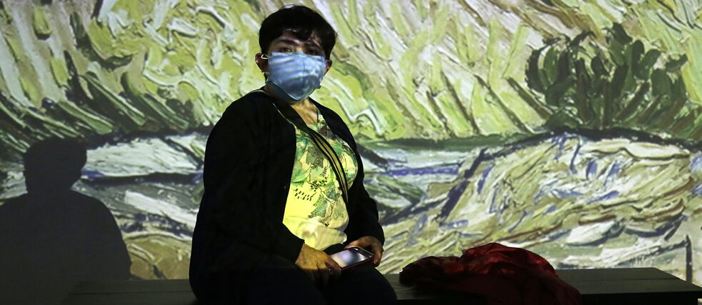 "Virtual exhibition ""Van Gogh Alive, The Experience"" in Mexico City, August 2020"
