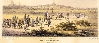Decolonisation - Arrival of Heinrich Barth in Timbuktu, 1853 (in: Barth, Heinrich (1857-58). Travels and Discoveries in North and Central Africa 1849–1855, vol. IV, Gotha: Justus Perthes.