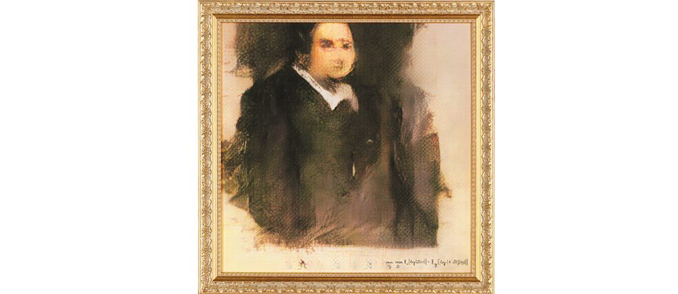 The French artists collective Obvious Art's portrait of Edmond de Belamy was created using artificial intelligence and sold for US$ 435,000 by Christie's auction house in New York in October 2018.