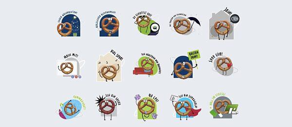 Digitale Sticker