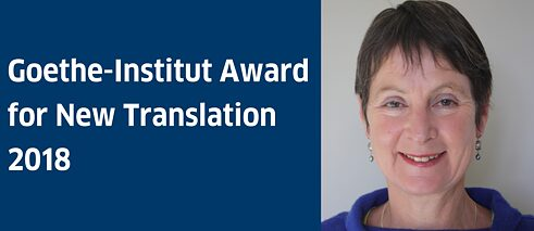 Mandy Wight, winner of the Goethe-Institut Award for New Translation 2018