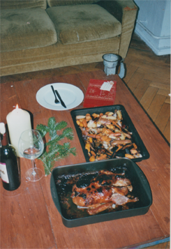 An expat's Christmas feast - only a little burned.