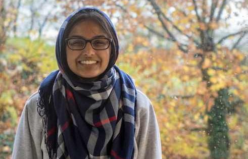 Hibba Kauser, 18, from Germany with Pakistani parents, lives in Offenbach, high school student, class representative, and active in the Student Council of the State of Hessen and the youth wing of the Social Democratic party