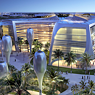 Draft for Masdar City central square, the first carbon neutral, zero-waste, and car-free city.