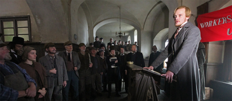 "On the set of ""The Young Karl Marx"" by Raoul Peck"