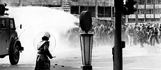 Street battle in Frankfurt am Main in 1974