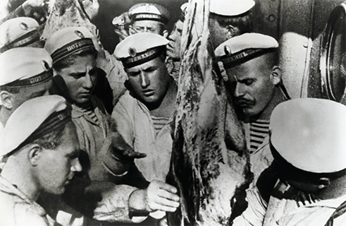"<b>""Battleship Potemkin"" by Sergei Eisenstein (1925)</b><br>Some early cinematic masterpieces were made as communist state propaganda. Directors such as Russians Dziga Vertov and Sergei Eisenstein enthusiastically sized on the unique power of the new medium of film and saw cinema as a useful tool for the revolution. The silent film <i>Battleship Potemkin</i> depicts the events of revolutionary year 1905 by dramatizing a mutiny on the Russian battleship Potemkin. The ship's crew rises up against the officers loyal the Tsar, and revolutionary fervour spreads throughout the country from this initial insurgency. The story is loosely based on events actual events that took place on the Potemkin in June 1905, though the mutineers were forced to surrender when they ran out of coal."