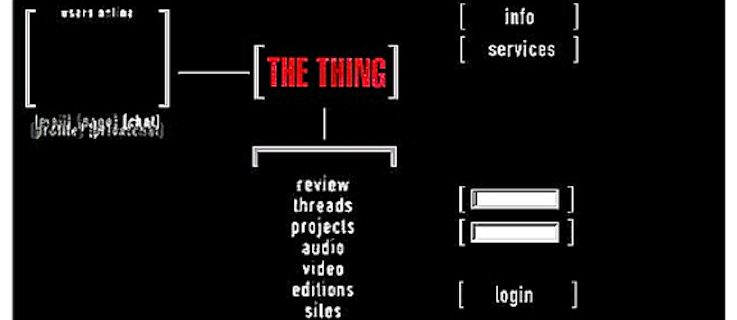 Schermata del progetto d'arte digitale <i>The Thing</i>.