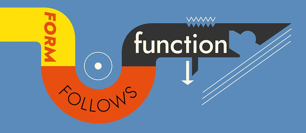 "<b>""Form follows function""</b><br><br>No ornamentation, no frippery or finery, and no bells and whistles: While the ""form follows function"" ideal did not originate with the great minds of the Bauhaus – although it is often misattributed to them – they were the first to consistently apply it in Germany. And though the language of the Bauhaus might make it seem like this principle perfectly captures the school's quintessence, Wassily Kandinsky qualified it somewhat with his dictum, ""necessity creates form."""