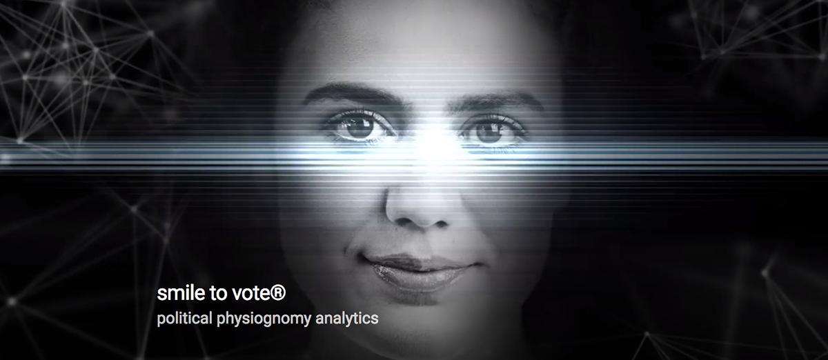 Smile to Vote: Screenshot der fiktiven Firmen-Website