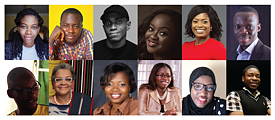 Collage of photos by participants of a workshop for illustrators and authors in Nigeria.