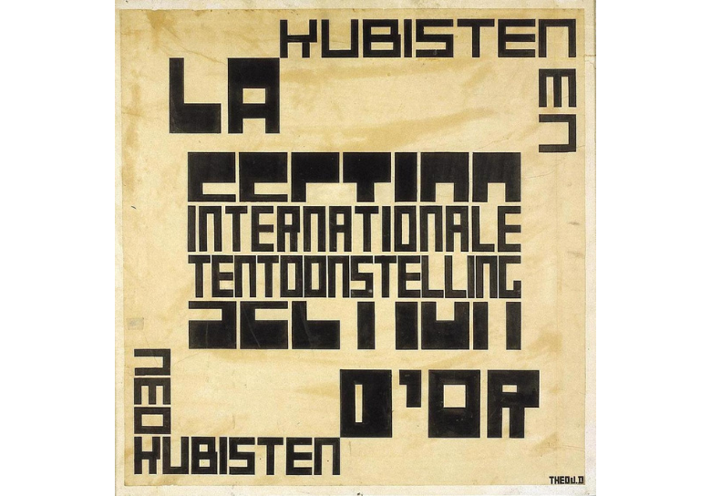 Theo van Doesburg - Design for a poster for the Section d'Or exhibition