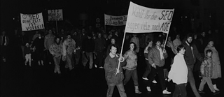 Demonstration in Wittenberge am 15. Januar 1990