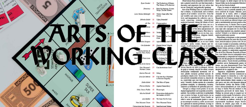 Arts of the Working Class Intro Titel