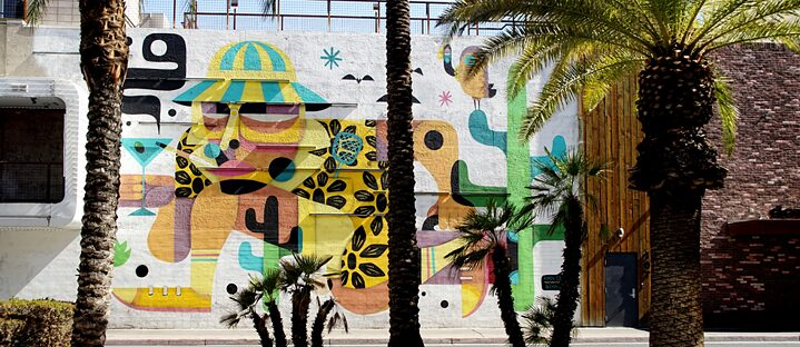 Las Vegas Mural: Hunter S. Thompson by Ruben Sanchez