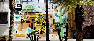 Las Vegas Mural: Hunter S. Thompson von Ruben Sanchez