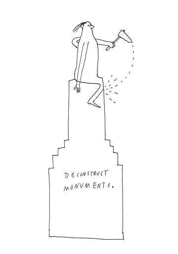 Graphic Recording: Deconstruct Monuments