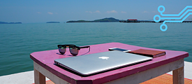 A digital nomad with no office in Ko Lanta, Thailand