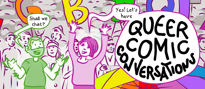 Queer Comic Conversations banner