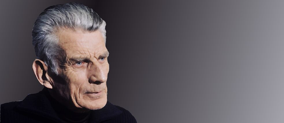 Samuel Beckett, 1977 Photo by Roger Pic