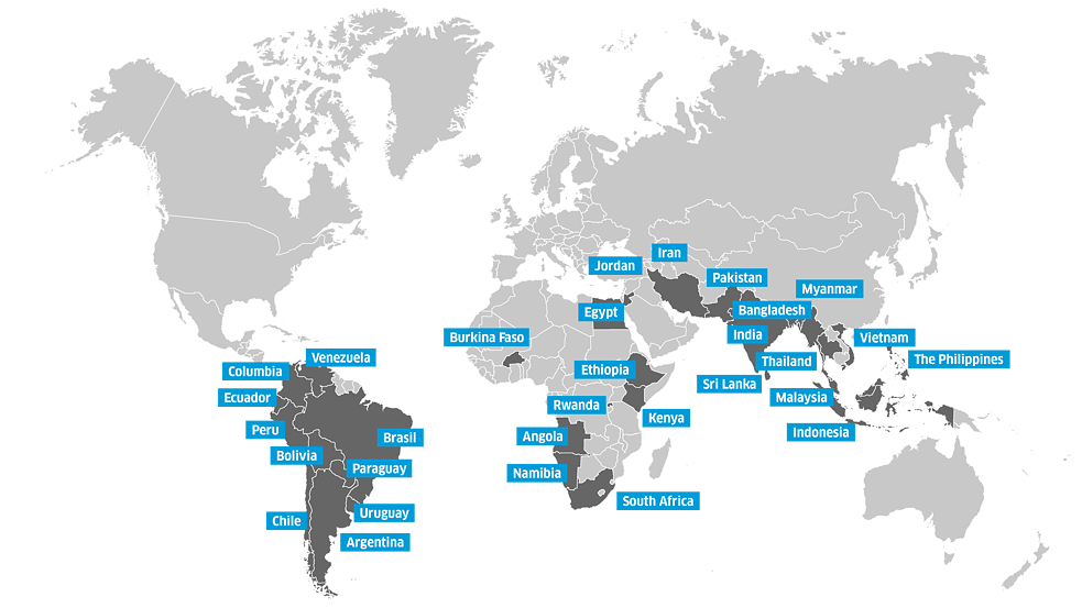 Science Film Festival - Map Participating Countries 2020