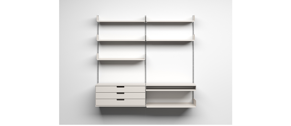 The 606 shelving system designed by Dieter Rams in 1960 is still sold today via the furniture manufacturer Vitsoe.