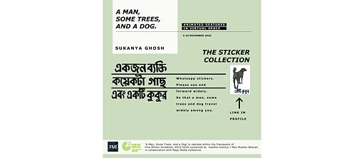 A Man, Some Trees, And a Dog © Sukanya Ghosh