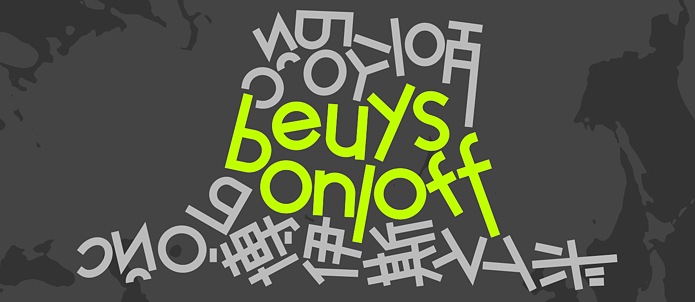"Banner zum Projekt ""beuys on/off"""