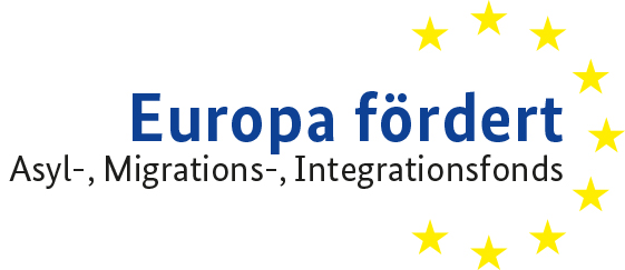 Logo: Europa fördert: Asyl-, Migrations- und Integrationsfonds