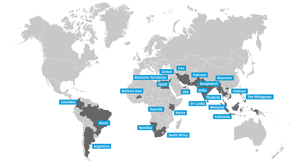 Science Film Festival - Map Participating Countries 2019